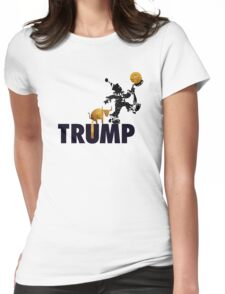 Trump Served Daily. Womens Fitted T-Shirt