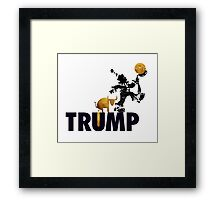 Trump Served Daily. Framed Print