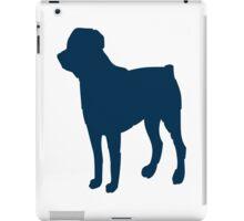 Blue pet dog silhouette iPad Case/Skin