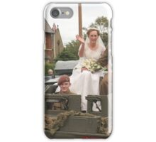 JUST WED iPhone Case/Skin