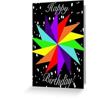 Rainbow Star Happy Birthday! Greeting Card