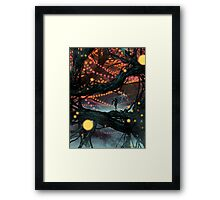 Flat Tire In Oblivion Framed Print