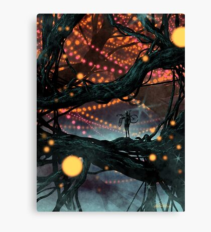 Flat Tire In Oblivion Canvas Print