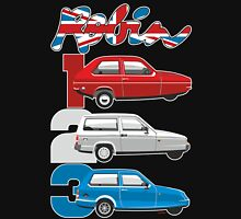 Reliant Robin evolution Unisex T-Shirt