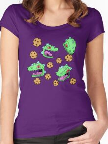 Cookie Dinosaur Women's Fitted Scoop T-Shirt