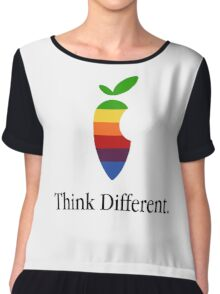 "Apple Parody Zootopia Carrot ""Think Different"" Logo Chiffon Top"