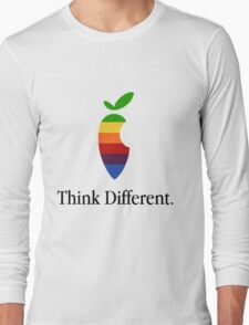 "Apple Parody Zootopia Carrot ""Think Different"" Logo Long Sleeve T-Shirt"