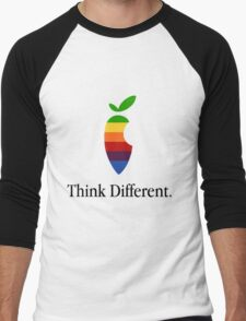 "Apple Parody Zootopia Carrot ""Think Different"" Logo Men's Baseball ¾ T-Shirt"