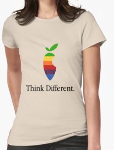 "Apple Parody Zootopia Carrot ""Think Different"" Logo Womens Fitted T-Shirt"