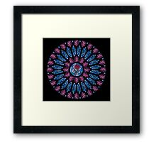 Stained Glass Rose Framed Print