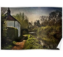 Cottage By The Kennet And Avon Canal Poster