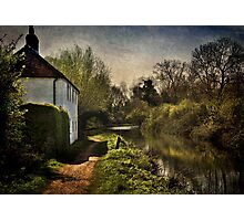 Cottage By The Kennet And Avon Canal Photographic Print