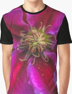 Clematis macro Graphic T-Shirt
