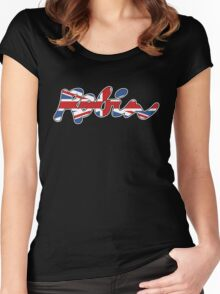 Reliant Robin Union Jack Women's Fitted Scoop T-Shirt
