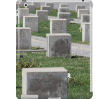 tombstones unknown soldiers at the military cemetery iPad Case/Skin