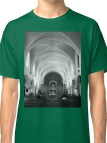 The Benedictine Sanctuary ~ Black & White Classic T-Shirt