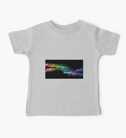 abstract rainbow color bubble design on black Baby Tee