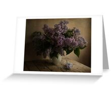 Still life with fresh lilac Greeting Card