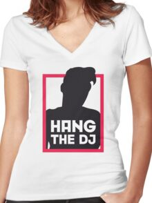 Hang The DJ Women's Fitted V-Neck T-Shirt