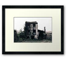Old abandoned house, left and broken Framed Print