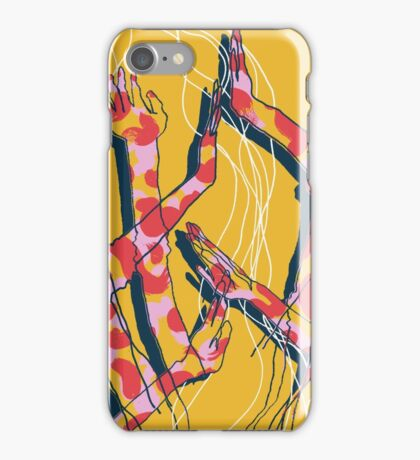 Expressive Arms in Yellow iPhone Case/Skin