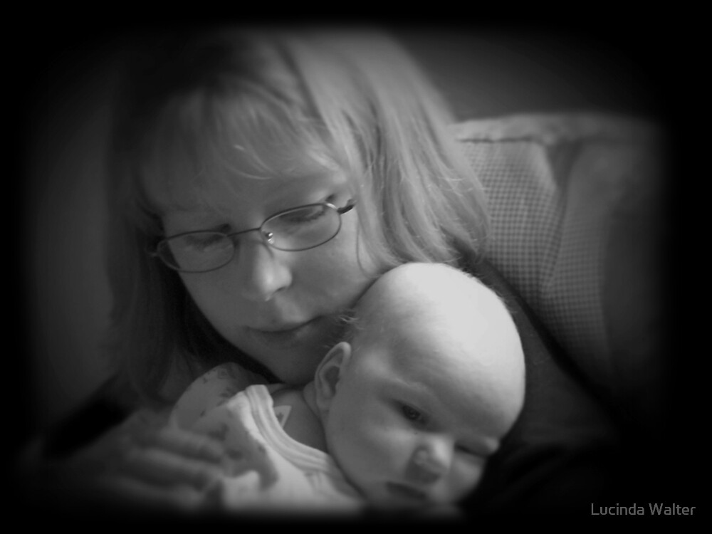 A Mother's Love ~ Black & White by Lucinda Walter
