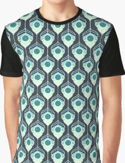 Geometric Winter Leaves Graphic T-Shirt