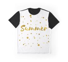 Summer in gold texture Graphic T-Shirt