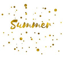 Summer in gold texture Photographic Print