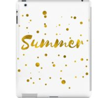 Summer in gold texture iPad Case/Skin