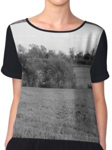 Lakeview - Black and White Chiffon Top