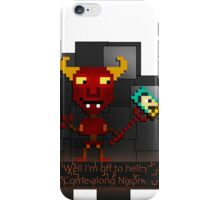Pixel Robot Devil (Futurama) iPhone Case/Skin