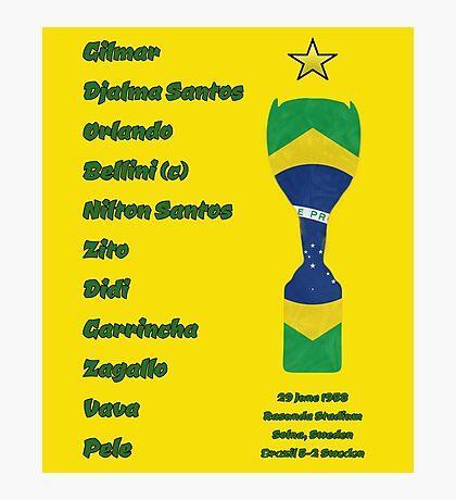 Brazil 1958 World Cup Final Winners Photographic Print