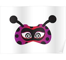 lady bird party mask face Poster