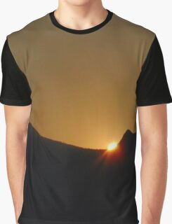 Sunset Over Mountains Graphic T-Shirt