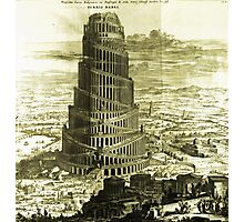 Tower of Babel, KIRCHER'S Turris Babel (1679) Photographic Print