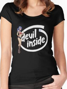 There's a Devil inside Women's Fitted Scoop T-Shirt