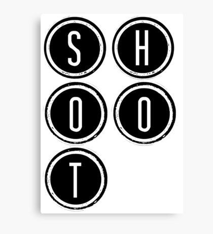 Shootdown (black) Canvas Print