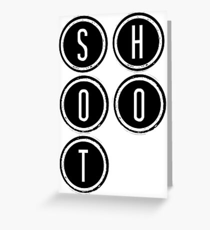 Shootdown (black) Greeting Card