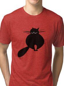 Black fat cat Tri-blend T-Shirt