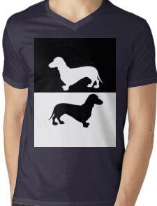 Dachshund Mens V-Neck T-Shirt