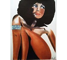 STYLISH AND FANCY AFRO LADY/ PASTEL Photographic Print