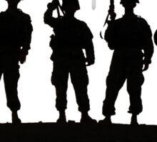 Army silhouette  Sticker