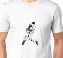 Baseball player hitting shot Unisex T-Shirt
