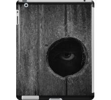 Scary Eye Looking Through Hole In Wood iPad Case/Skin