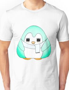 Turquoise Blue Gum Drop Penguin  Unisex T-Shirt