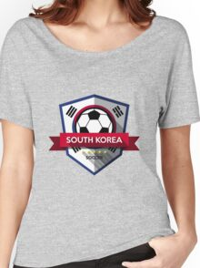 Creative soccer South Korea label Women's Relaxed Fit T-Shirt