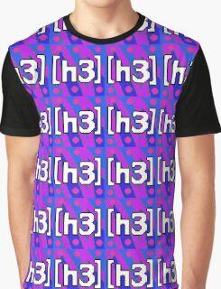 Pixel H3H3 Logo Graphic T-Shirt