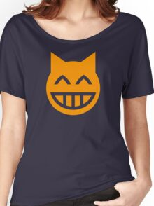 Grinning Emoji Cat Women's Relaxed Fit T-Shirt