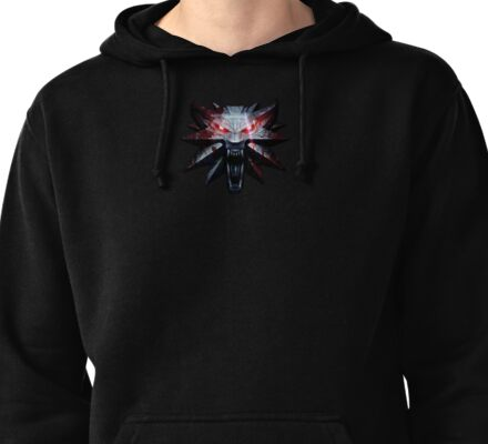 The Witcher 3 Glowing Eyes Wolf Pullover Hoodie